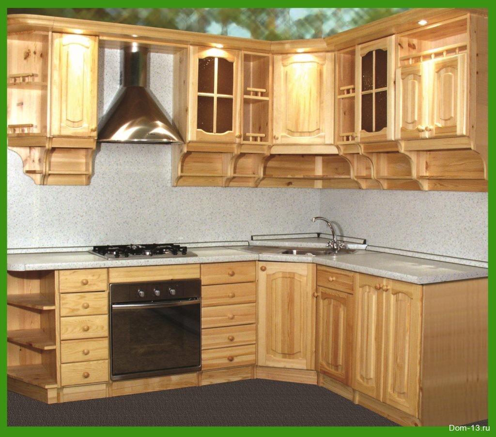 фото кухня из сосны